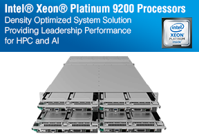 The New Intel® Xeon® Platinum 9200 Series Processors